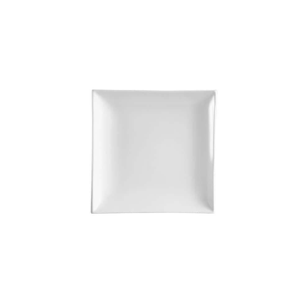 CAC China TOK 6 Tokyia Super White Porcelain Thick Square Plate, 6 Inch, Box of 36