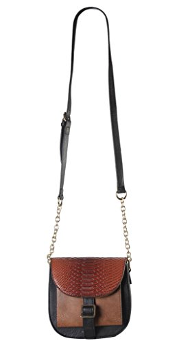 diophy-pu-leather-two-tone-front-pocket-cross-body-saddle-handbag-accented-with-snake-skin-pattern-f