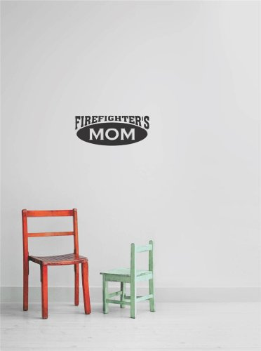 Decals & Stickers : Firefighter'S Mom Living Room Bedroom Kitchen Home Decor Picture Art Image Peel & Stick Graphic Mural Design Decoration - Size : 10 Inches X 26 Inches - 22 Colors Available front-39963