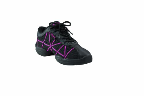 Capezio WEB Dance Sneakers (DS19) Black and Hot Pink
