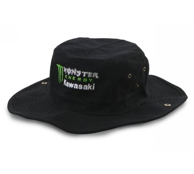 Monster Energy Kawasaki Black Safari Hat