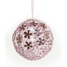 Little Boutique Pink Sparkling Ball Chandelier