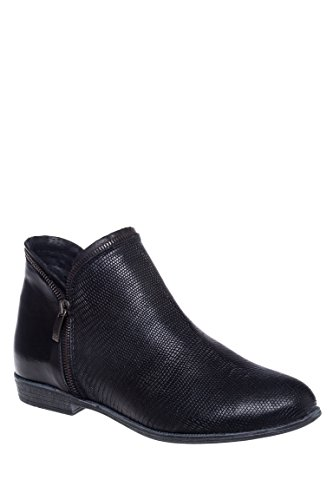 Ireland Textured Low Heel Ankle Boot
