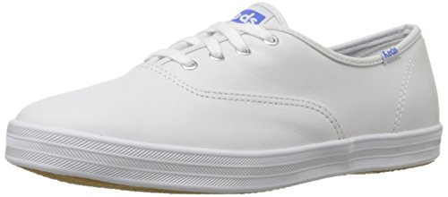 Keds Women's Champion Original Leather Sneaker,White Leather,11 M