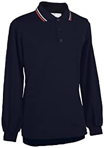 Adams USA Smitty Major League Style Long Sleeve Umpire Shirt with Front Chest Pocket (Navy, XX-Large)