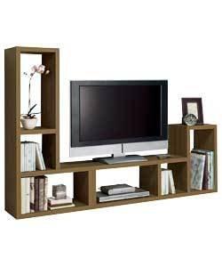 ex argos pair of oak effect l shape shelves flatpacked