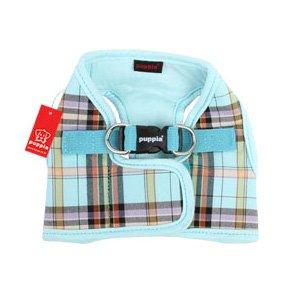 "Puppia ""Classic"" Vest Harness B - Aqua Small (Chest 12.6-17.3"")"