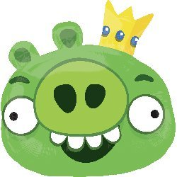 "Angry Birds Green Pig Character 23"" Mylar Balloon"
