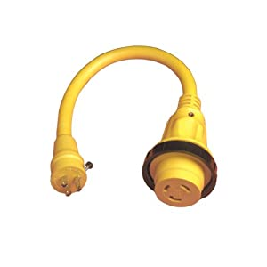 Buy Marinco Marine Electrical Shore Power Pigtail Adapter, Yellow by Marinco