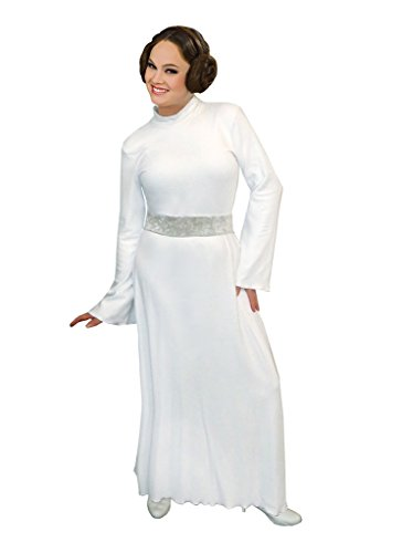 [Princess Leia Plus Size Supersize Halloween Costume Dress & Bun Headband 1x] (Sci Fi Halloween)