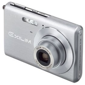 Casio EX-Z60 6MP Digital Camera 3x Optical Zoom Silver with 1GB Card and Leather Case.