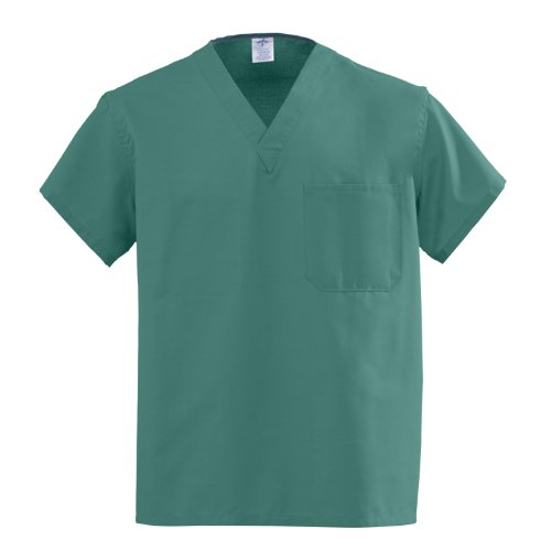 AngelStat Unisex Reversible V Neck Scrub Top Emerald Green 5XLTOP EMERALD ANG CC 5XL 1EA