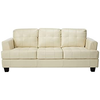 Coaster Samuel Collection Cream Leather Sofa
