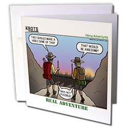Rich Diesslin KNOTS Scout Cartoons - Knots Hiking Adventure - Real Adventure - Greeting Cards-12 Greeting Cards with envelopes
