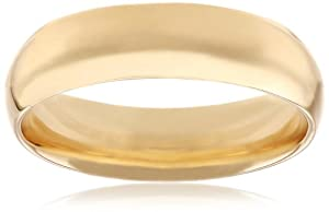Men's 14k Yellow Gold Comfort-Fit Plain Wedding Band - Gay Wedding Ring