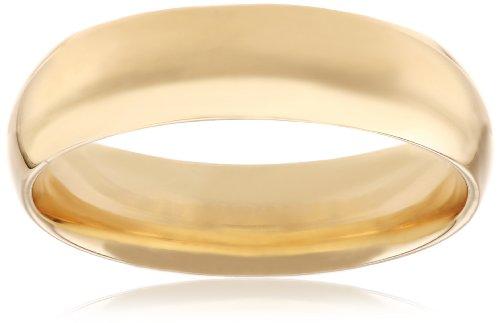 Men's 14k Yellow Gold Comfort-Fit Plain Wedding