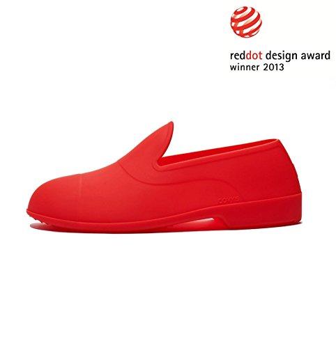 """COVY'S Urban Life """"rosso / red"""" BASIC SET (scarpe protezione, scarpe con cover, galosh) (44-46 EU / Misura L (UK 9.5-11.0; US 10.5-12.0))"""