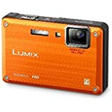 Panasonic Lumix DMC-TS1 12MP Digital Camera with 4.6x Wide Angle MEGA Optical Image Stabilized Zoom and 2.7 inch LCD (Orange)