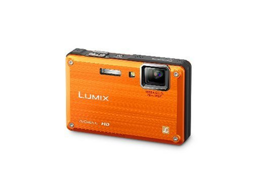 Panasonic Lumix DMC-TS1 12MP Digital Camera with 4.6x Wide Angle MEGA Optical Image Stabilized Zoom and 2.7 inch LCD (Orange)