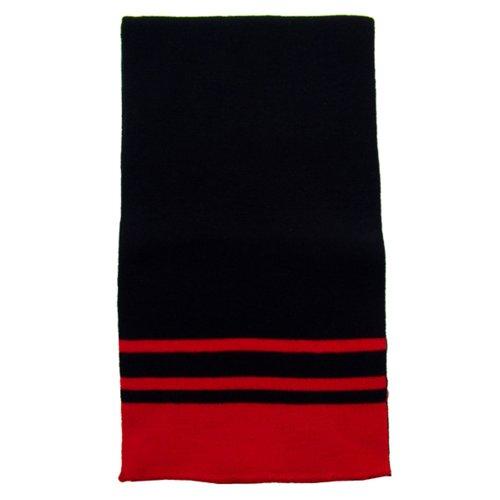 2Pcs Pack Of Acrylic Winter Wool-Like Striped Scarf / Wrap - Ash/Black - Unisex