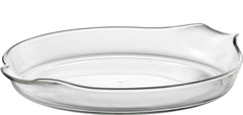 Jenaer Glas Gourmet Cucina Collection Glass Quiche Dish, 10.7 by 9.5-Inch
