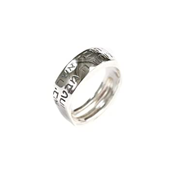 Mens Engraved Wedding Band 48 Ideal Sterling Silver Ring for