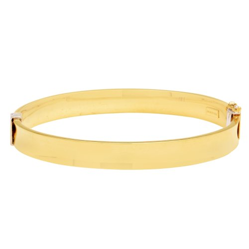 Bonded Sterling Silver and 14k Yellow Gold Bangle Bracelet