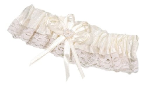 Darice P150-110-29, Lace Trim / Heart Garter, Cream