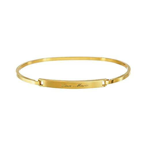 Hochwertiger-Damen-Armreif-Armband-aus-Edelstahl-mit-Gravur-GOLD-4-mm-Personalsiert-mit-Ihrem-Wunschnamen