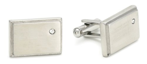 Stainless Steel With Crystals Cufflinks