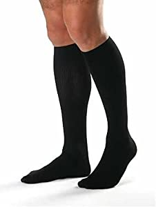 Jobst for Men Ribbed Over-the-Calf Firm Compression 20-30mmHg Size XL, Black