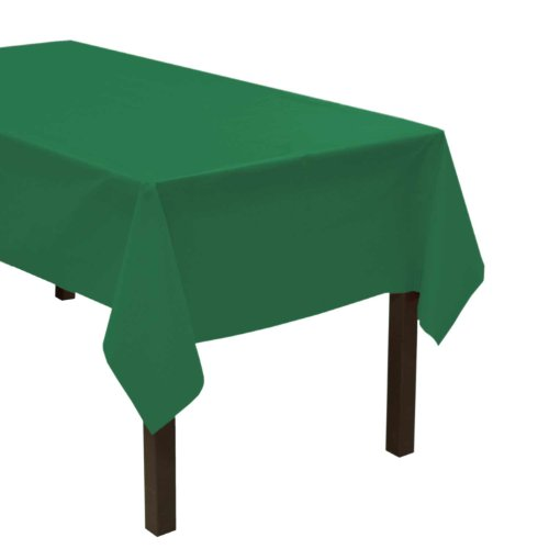 "Party Essentials Heavy Duty Plastic Table Cover, 54 x 108"", Kelly Green"