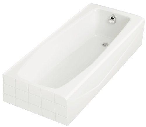 KOHLER K-716-0 Villager Bath with Right-Hand Drain, White