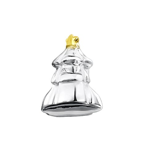 Jo For Girls Sterling Silver Christmas Tree Bead
