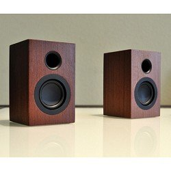 Great Deal! Altaz AZWS100 Micro-Fi Mini Stereo Speaker - Wood Grain