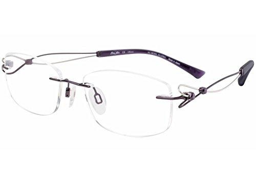 Charmant Line Art Eyeglasses XL2063 XL/2063 PU Purple Rimless Optical Frame 51mm (Charmant Eyeglass Frames compare prices)