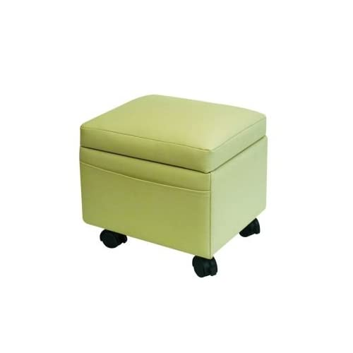 Storage Ottoman with Snack Tray-Almond Biege Color