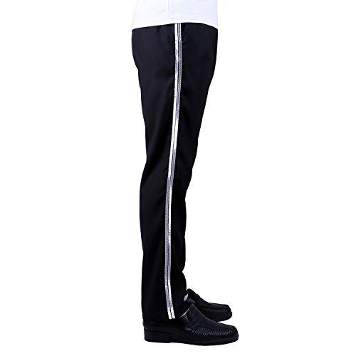 [Michael Jackson Costume Billie Jean Pants/Trousers/Silver Stripe/29W] (Michael Jackson Billie Jean Costumes)