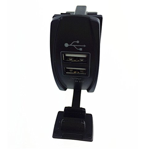 Foxnovo Waterproof Car Motorcycle 3.1A Dual USB Socket Power Charger Adapter