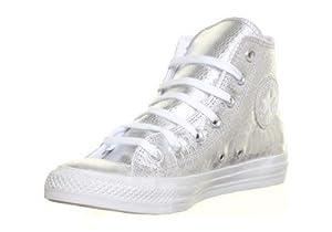 Converse Chuck Taylor Hi Shoes - Silver/white