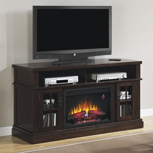 Classicflame Dakota Electric Fireplace Entertainment Center In Caramel Oak - 26Mm1066-O128