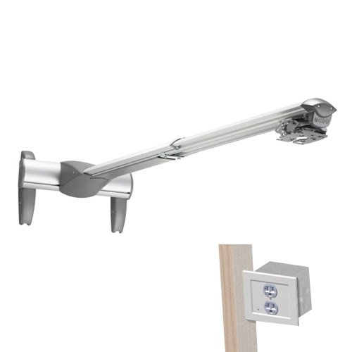 Chief Wm230Ausp Large Short Throw And Universal Projector Mount With Power Outlet Conditioner