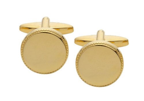 Code Red Gold Plated Round Cufflinks
