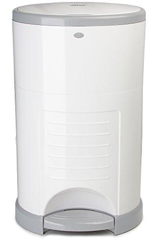 dekor-mini-hands-free-diaper-pail-white