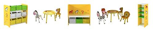 Bentley Kids - Meuble de rangement - 9 boîtes colorées - enfant - motif safari/jungle