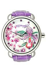 Ed Hardy Garden Purple Floral Mother-of-Pearl Dial Women's Watch #GN-PU