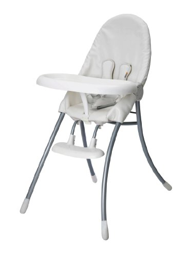 Bloom Nano Urban High Chair, White Frame With Seat Pad Coconut White