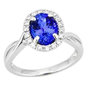 Tanzanite.com Tanzanite and Diamond Ring 2.42 TCW