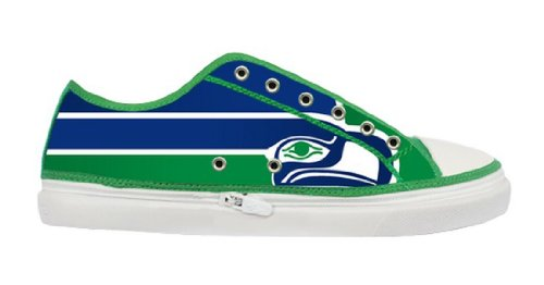 Seattle Seahawks Logo Lady's Fashion Sneakers with Special Design for Females at Amazon.com