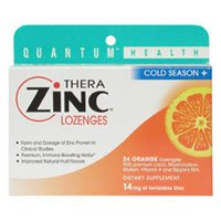 Quantum Thera-Zinc Cold Season Plus L Ozenges Orange - 24 L Ozenges, 2 Pack